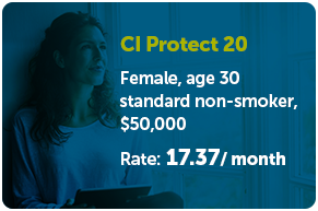 CI Protect 20 Rate: $17.37/ month