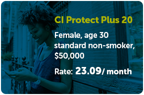 CI Protect Plus 20 rate: 23.09/ month