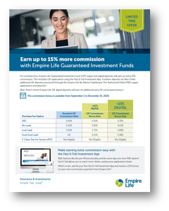 Earn up 15% more commission with Empire Life GIF