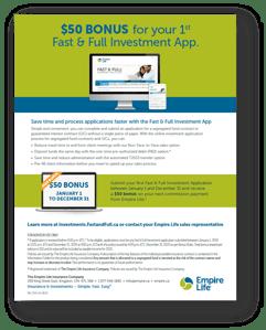 $50 Bonus for your 1st Fast & Full Investment App.